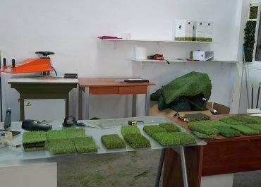 Zona de muestras de cesped artificial